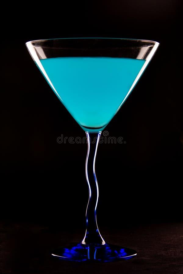 Blauer Martini lizenzfreie stockfotografie