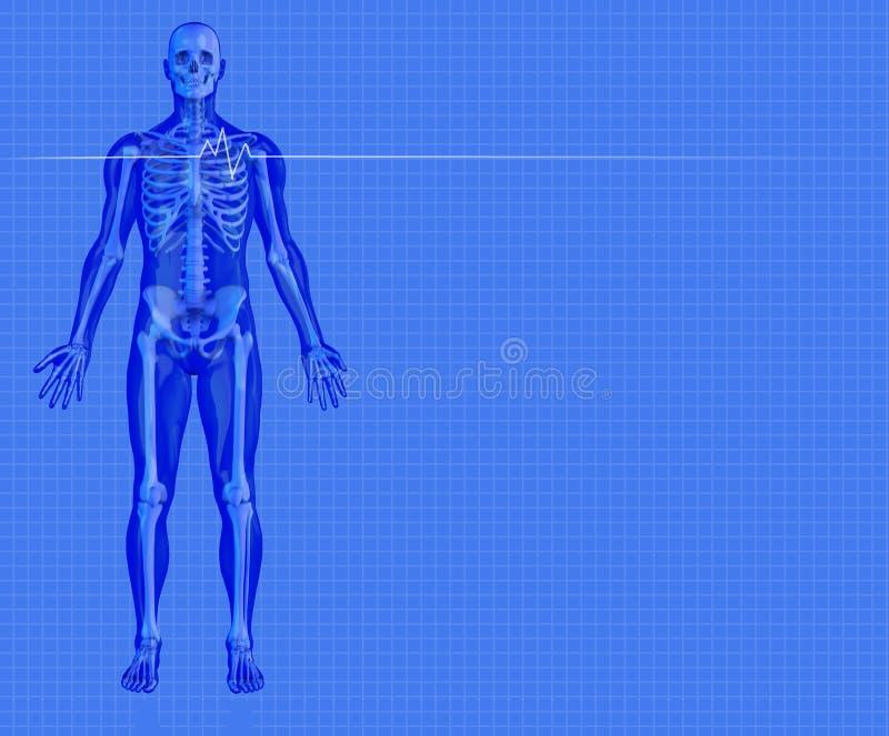 Blauer Medizinischer Hintergrund Stockbilder