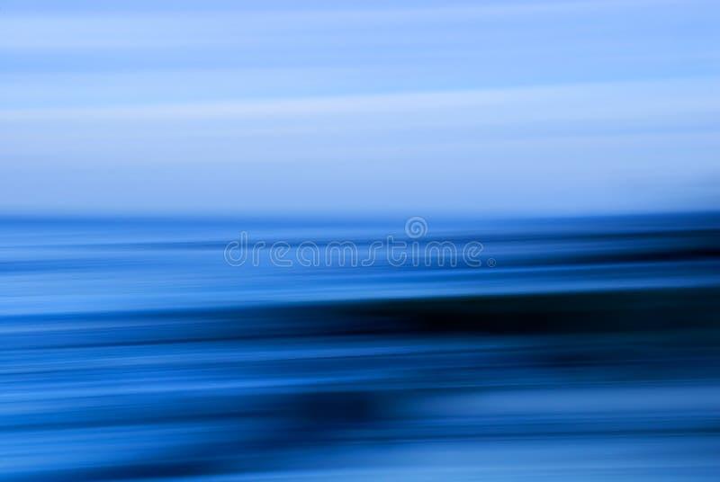 Blauer Meerblick lizenzfreie abbildung