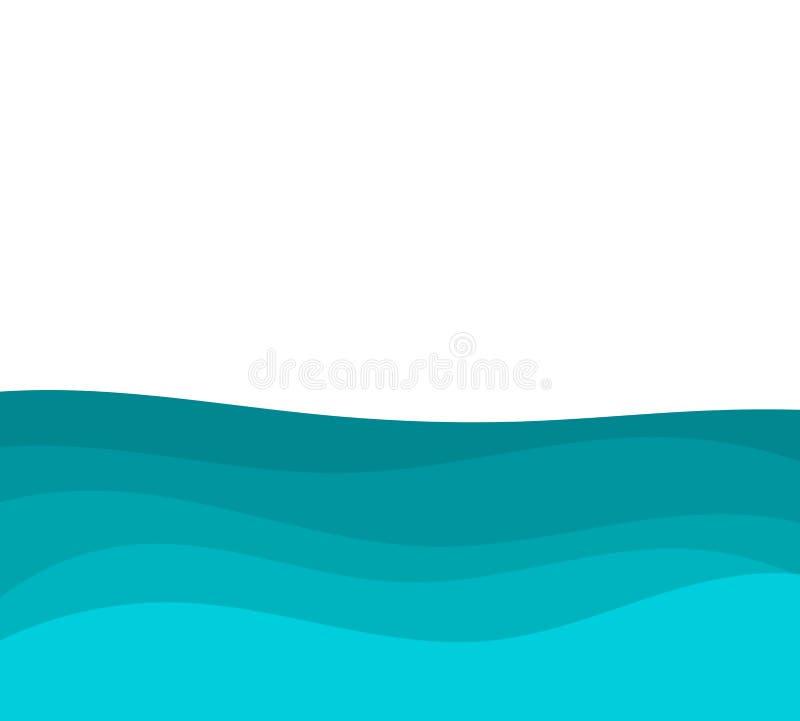 Blauer Meerwasserhintergrund stock abbildung