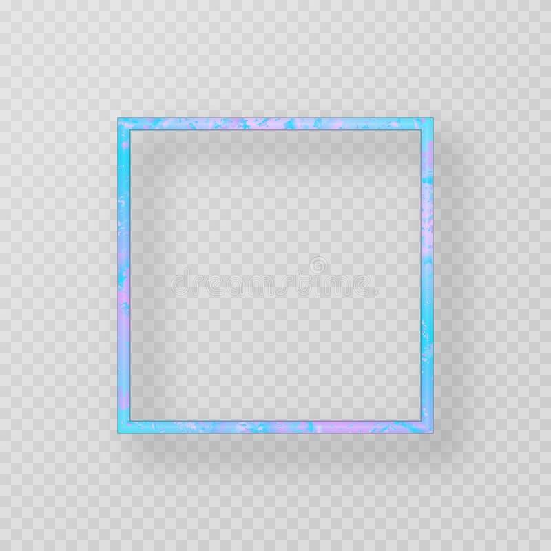Blauer Metallrahmen stock abbildung