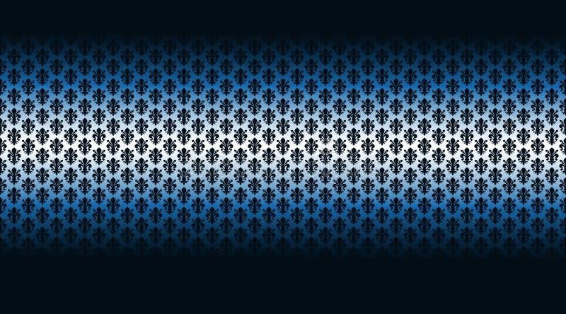 Blauer mit Blumenhintergrund des Musters vektor abbildung