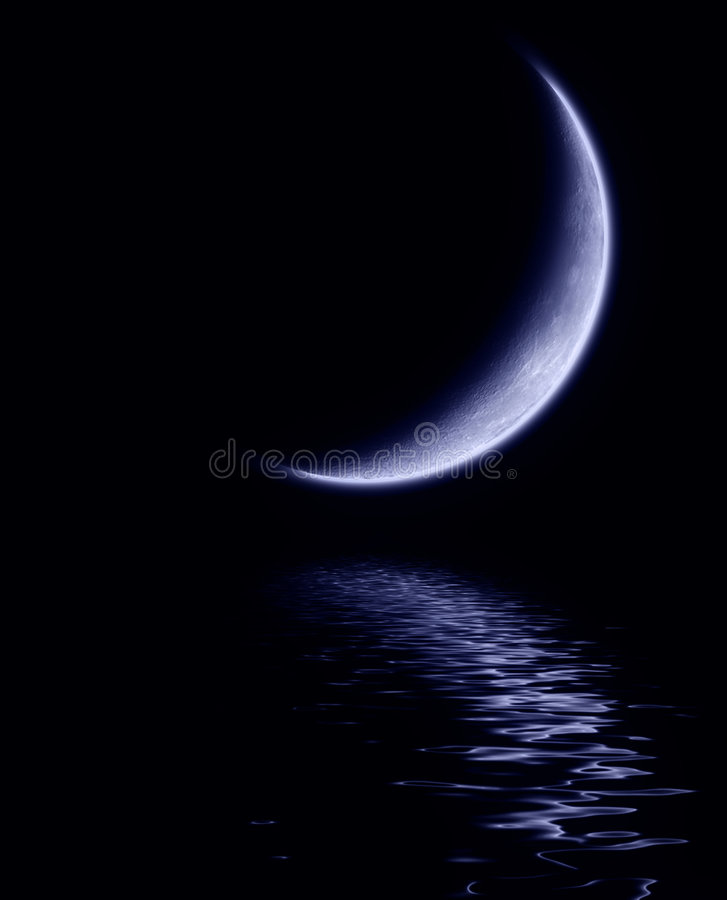 Blauer Mond lizenzfreie abbildung