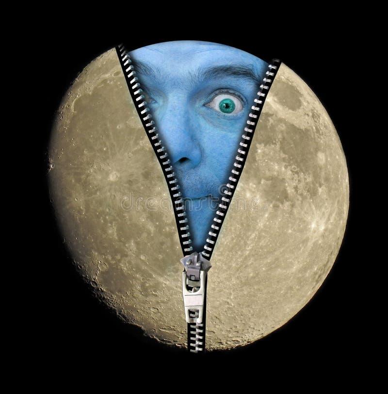 Blauer Mond lizenzfreies stockfoto