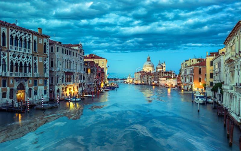 Blauer Morgen in Venedig stockfoto