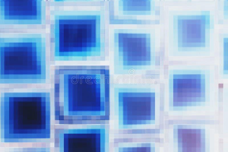Blauer Mosaikblock stockbild