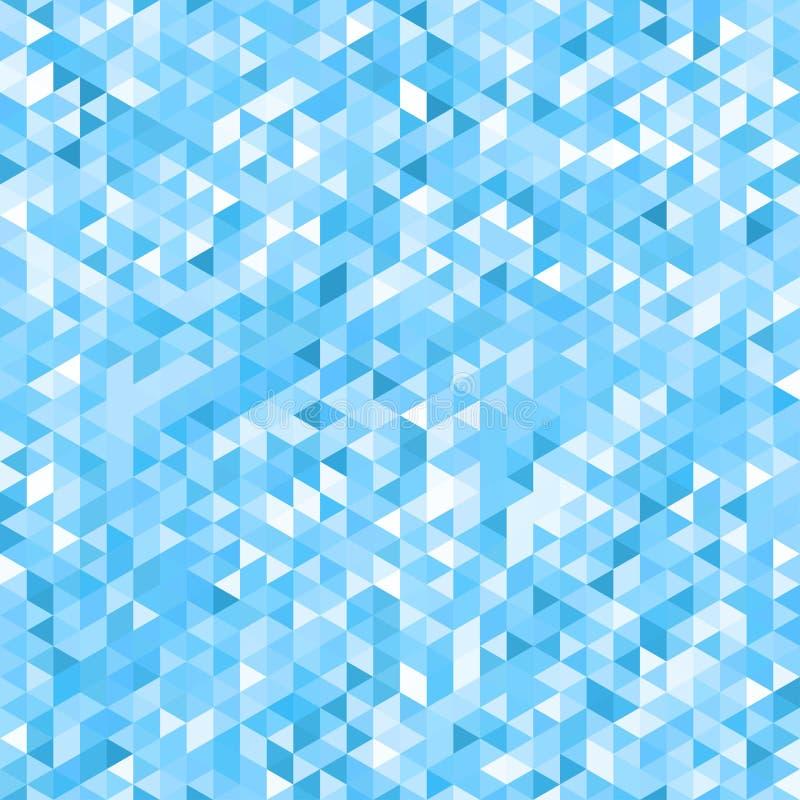 Blauer Mosaikhintergrund - nahtlos stock abbildung