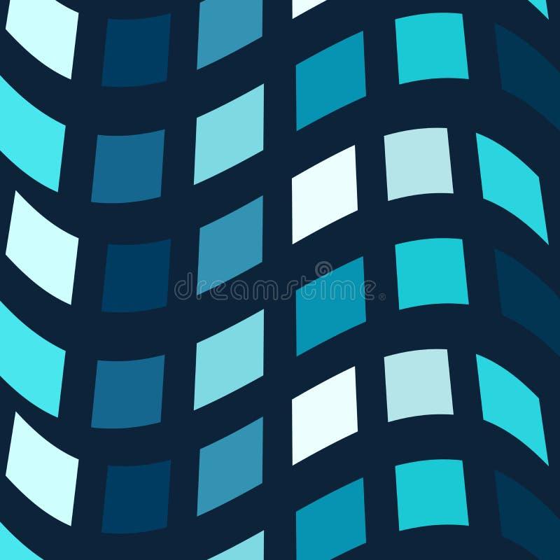 Blauer Mosaikvektorhintergrund stock abbildung