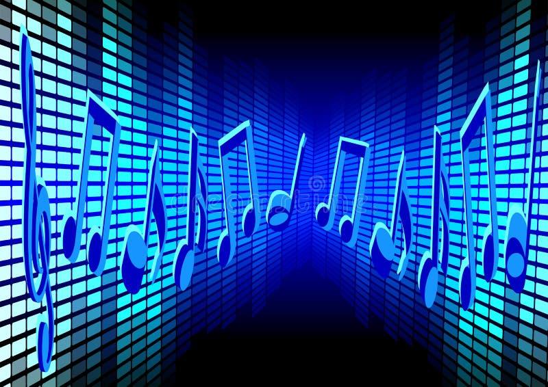 Blauer Musik-Hintergrund stock abbildung