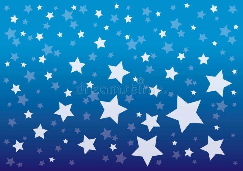 Blauer nächtlicher Himmel mit Muster Vektorillustration lizenzfreie abbildung