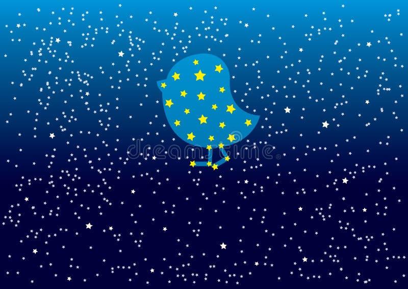 Blauer nächtlicher Himmel Pleiades mit Muster weißen Sternen und Punkten Auch im corel abgehobenen Betrag lizenzfreie abbildung