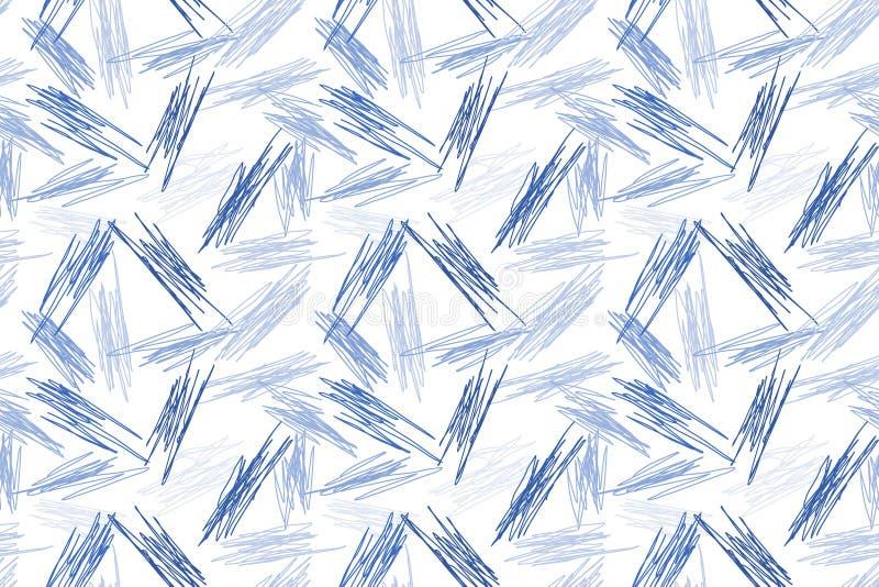 Blauer nahtloser Beschaffenheitshintergrund Pen Doodless lizenzfreie abbildung