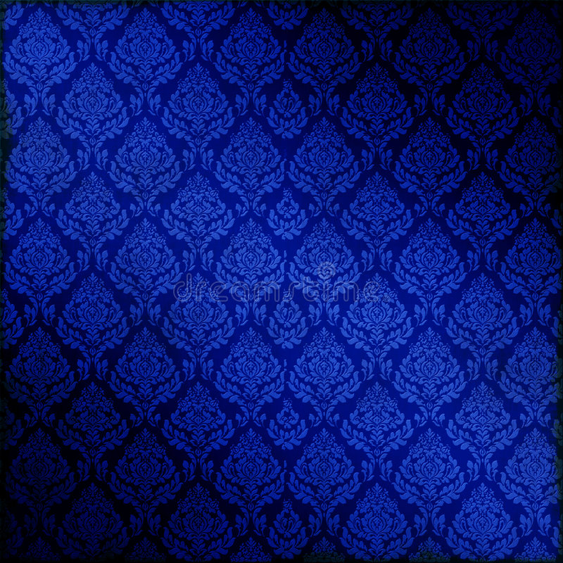 Blauer nahtloser Damast vektor abbildung