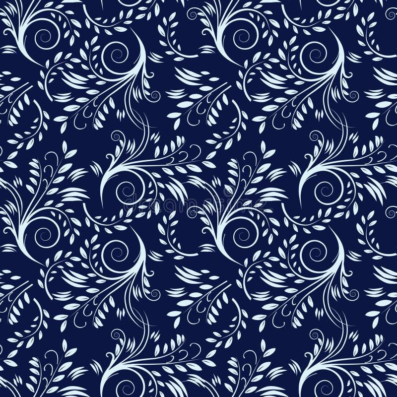 Blauer nahtloser Hintergrund lizenzfreie abbildung
