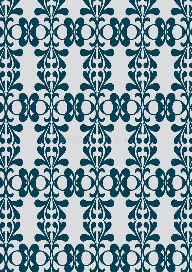 Blauer nahtloser Tapeten-Hintergrund lizenzfreie abbildung