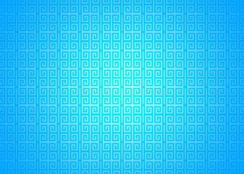 Blauer orientalischer dekorativer chinesischer arabischer islamischer Muster-Beschaffenheits-Hintergrund Imlek Ramadan Festival W vektor abbildung