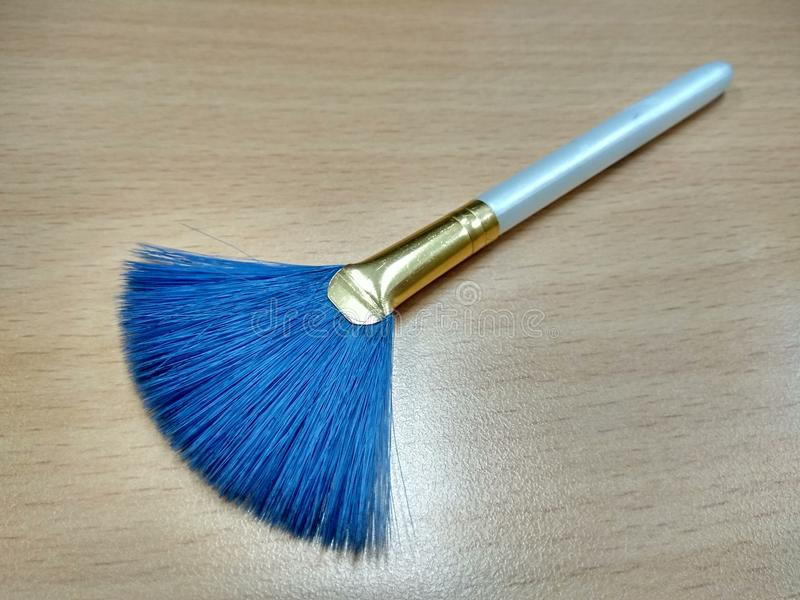 Blauer Pinsel stockfotos
