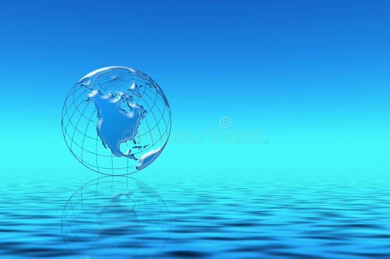 Blauer Planet im Wasser vektor abbildung