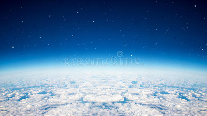 Blauer Planetenhimmel stockfoto