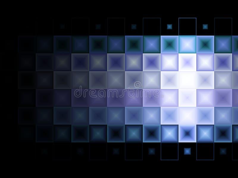 Blauer purpurroter Fliesehintergrund lizenzfreie abbildung
