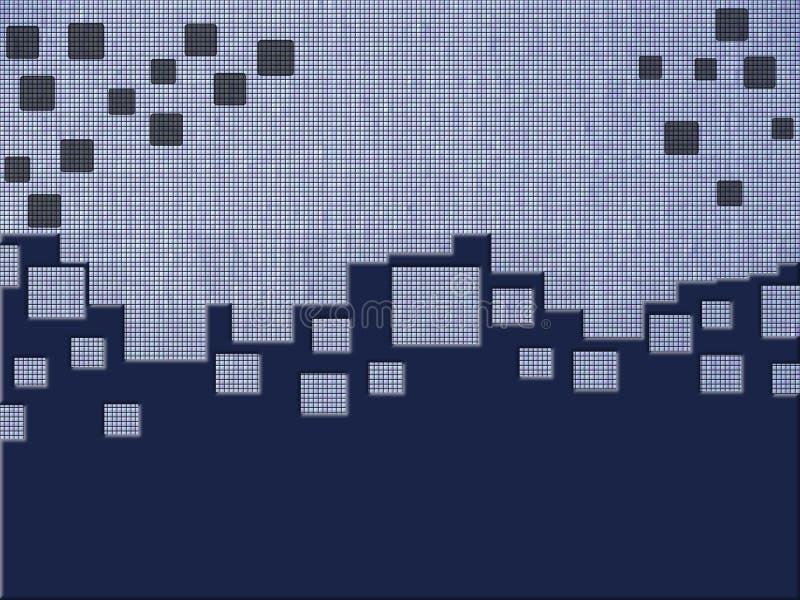 Blauer quadratischer Hintergrund stock abbildung