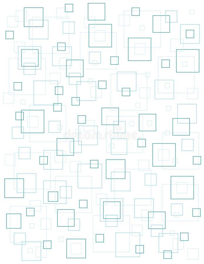 Blauer quadratischer Hintergrund stockfoto