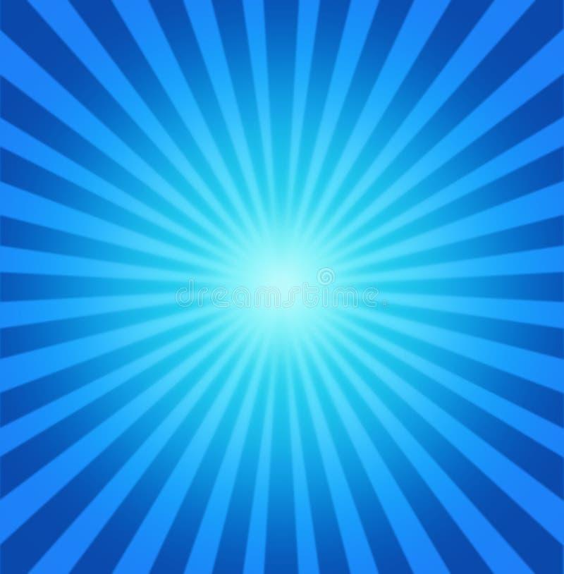 Blauer radialhintergrund stock abbildung