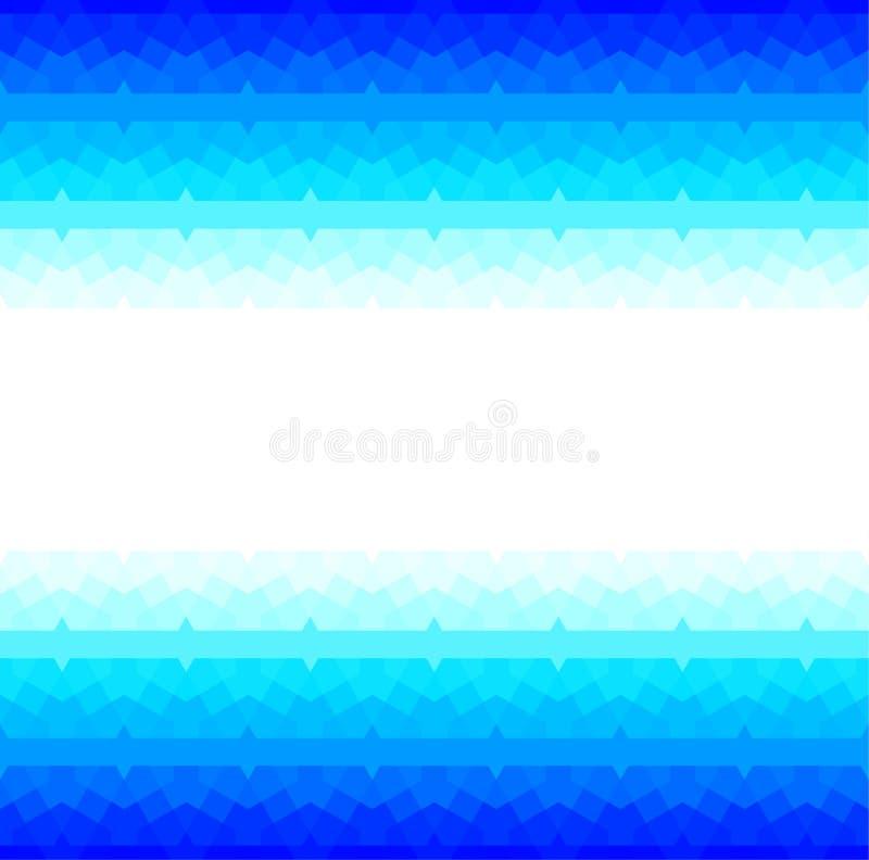 Blauer Rahmen mit nahtlosem arabischem Muster stock abbildung