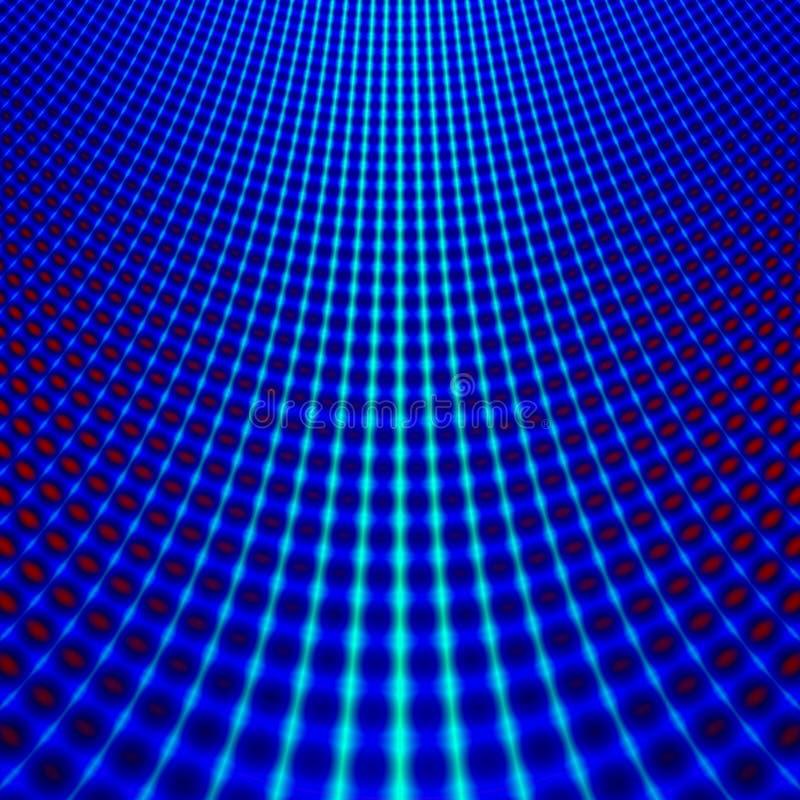 Blauer Rasterfeld Fractal lizenzfreie abbildung