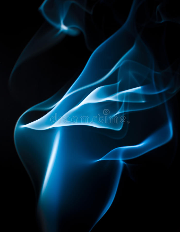 Blauer rauchiger abstrakter Hintergrund lizenzfreies stockfoto