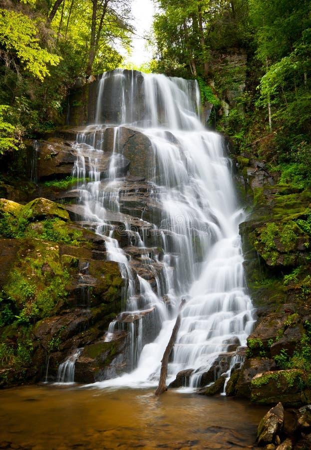 Blauer Ridge-Gebirgswasserfall-Landschaft NC stockbild