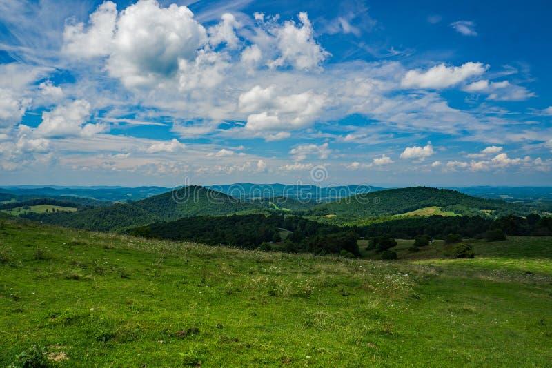 Blauer Ridge Mountains von der Felsen-Schloss-Schlucht-Spur lizenzfreie stockfotos