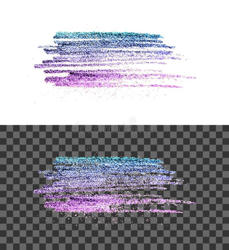 Blauer rosa Pinselvektor-Abstrichanschlag stock abbildung