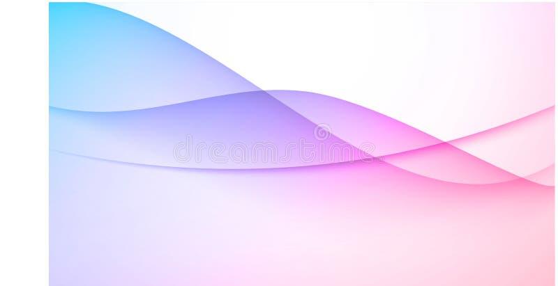 Blauer rosafarbener abstrakter Hintergrund stock abbildung