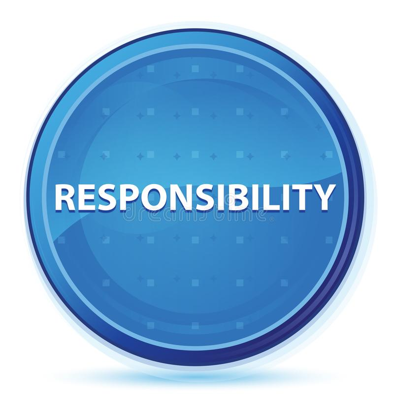 Blauer runder Hauptknopf des Verantwortungsmitternacht lizenzfreie abbildung