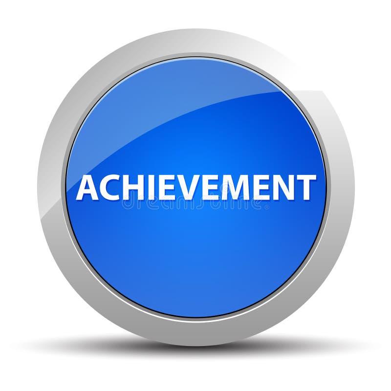Blauer runder Knopf der Leistung lizenzfreie abbildung