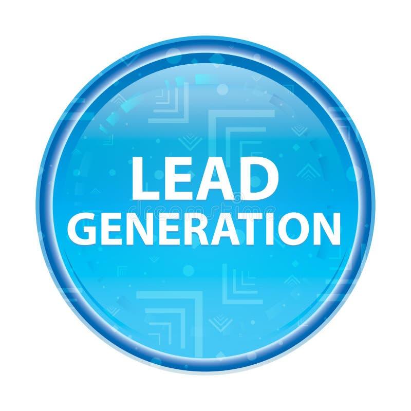 Blauer runder mit Blumenknopf der Führungs-Generation vektor abbildung