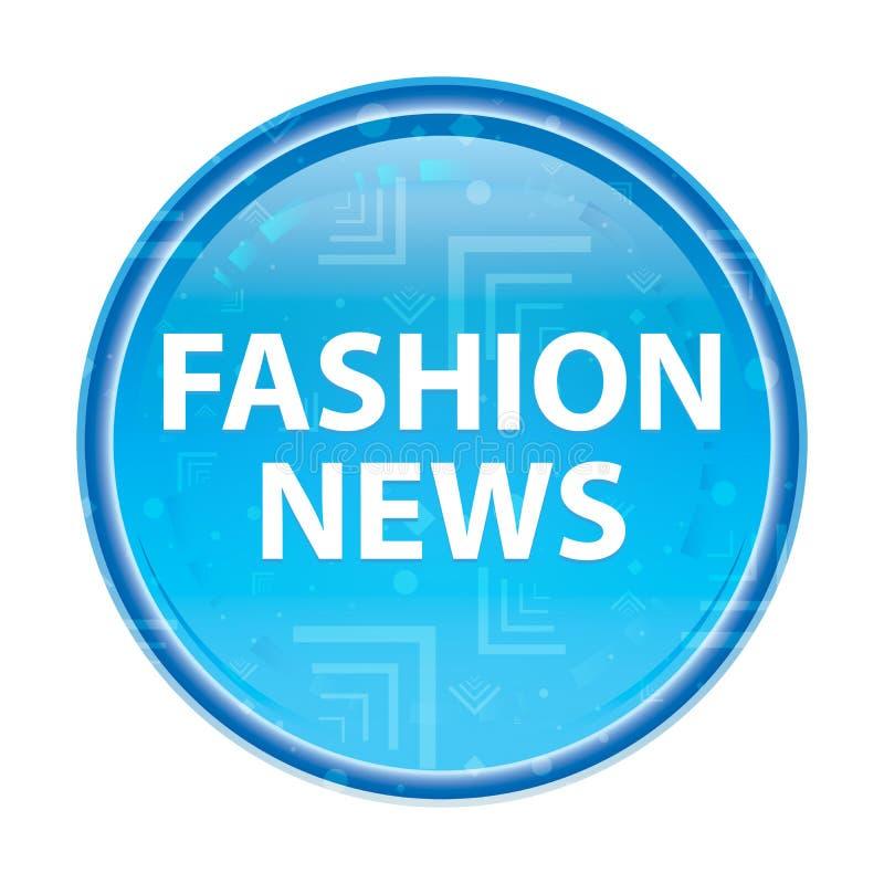 Blauer runder mit Blumenknopf der Mode-Nachrichten lizenzfreie abbildung