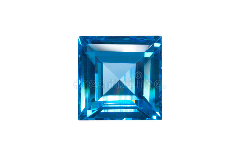 Blauer Saphir trennte lizenzfreie stockbilder