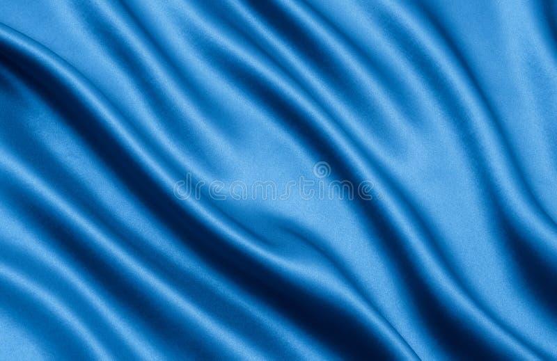 Blauer Satin lizenzfreie stockfotografie