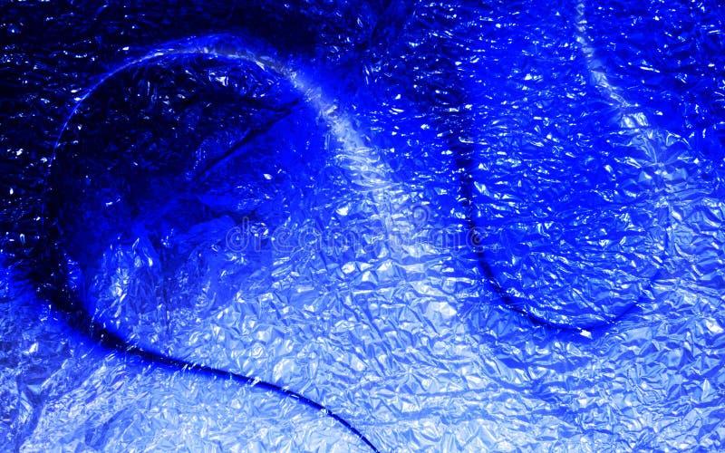 Blauer schattierter strukturierter Hintergrund des Funkelns der Zusammenfassung mit Lichteffekten Hintergrund, Tapete stock abbildung