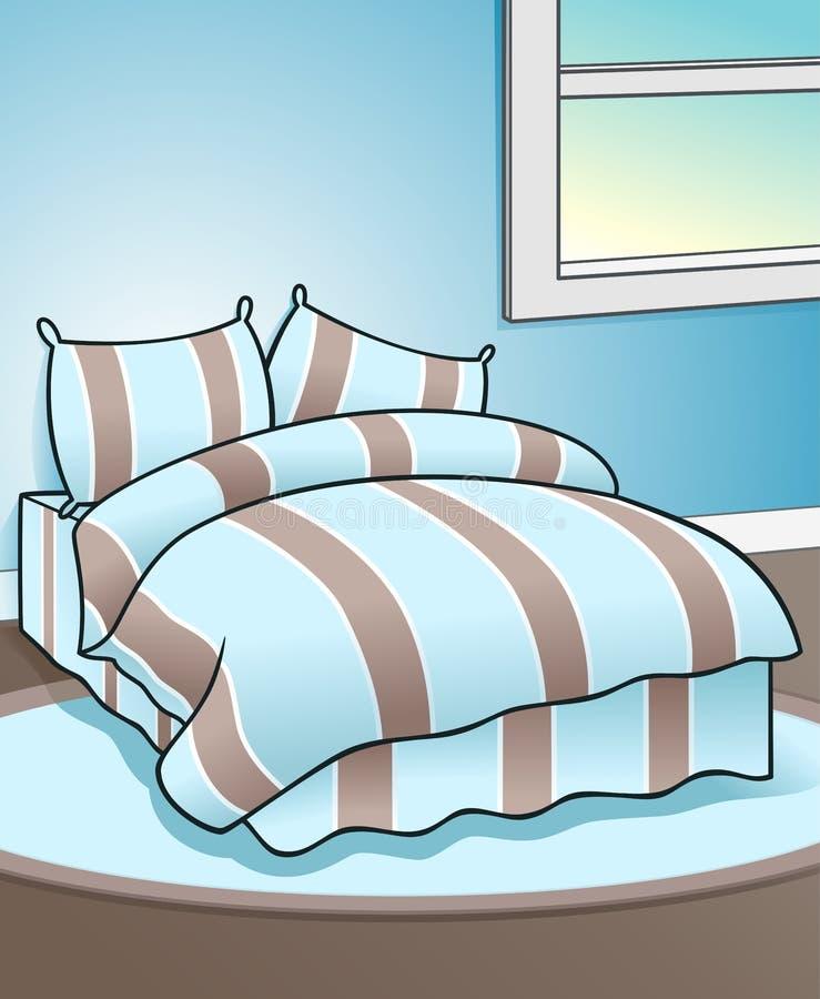 blauer schlafzimmer-hintergrund lizenzfreies stockbild - bild, Schlafzimmer entwurf