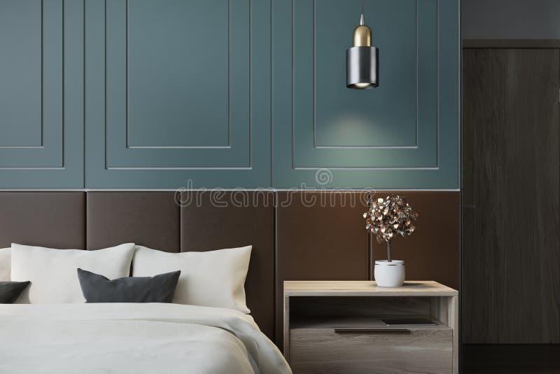 Blauer Schlafzimmerinnenraum vektor abbildung