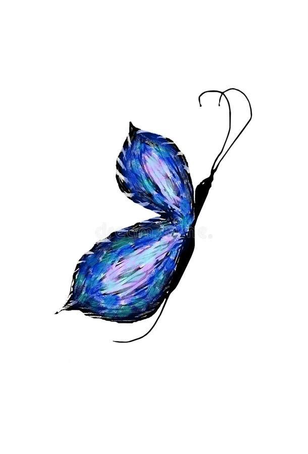 Blauer Schmetterling stockfotos