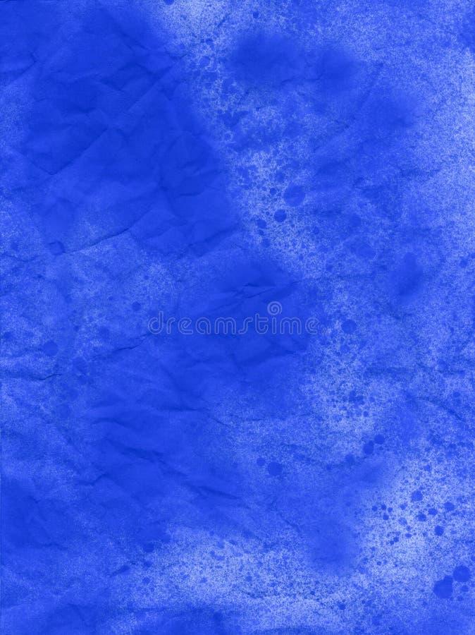 Blauer Schmutzhintergrund des Aquarells in den Regenbogenfarben Weinleseplakat, Fahne, Einklebebuchseite Handgemachte gealterte P lizenzfreies stockbild