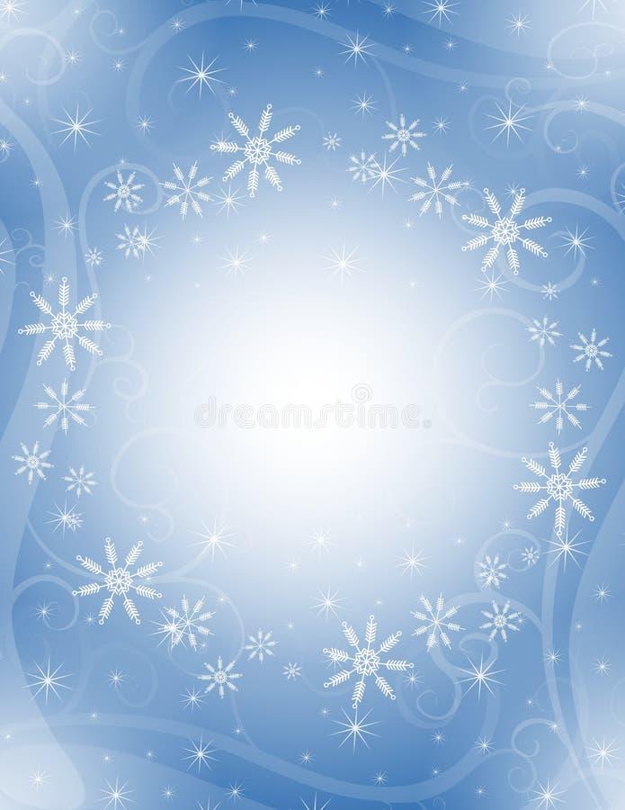Blauer Schneeflocke-Hintergrund vektor abbildung