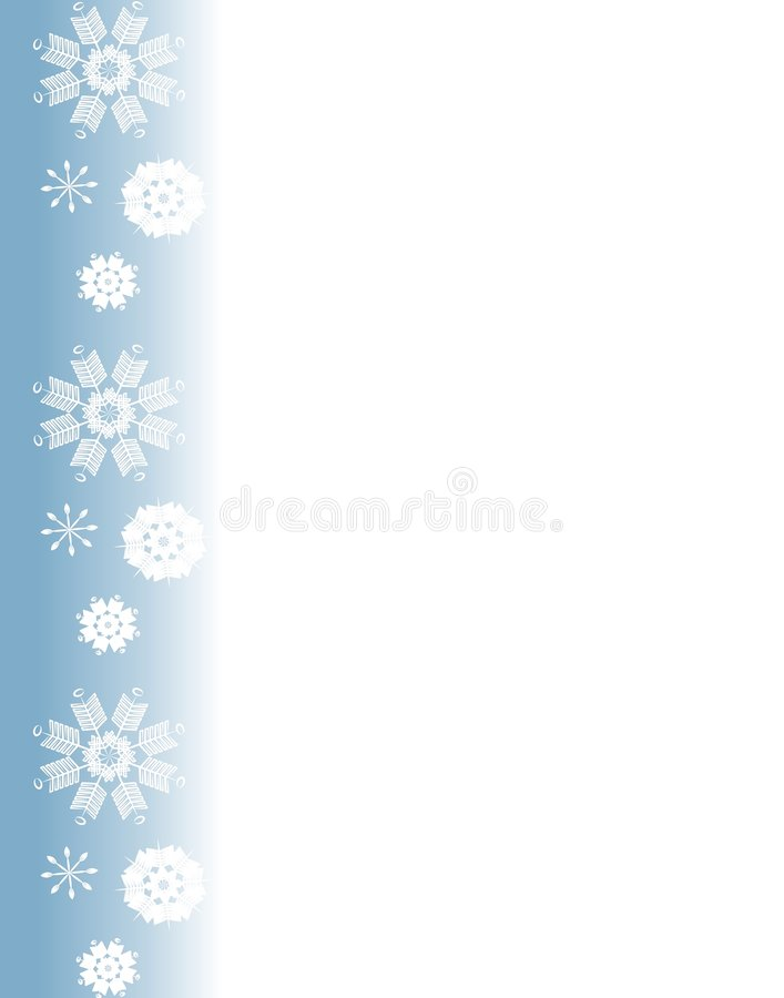 Blauer Schneeflocke-Rand stock abbildung