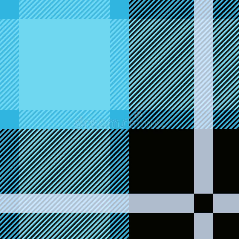 Blauer Schottenstoff, nahtloses Muster des Plaids Strukturiertes Plaid lizenzfreie abbildung