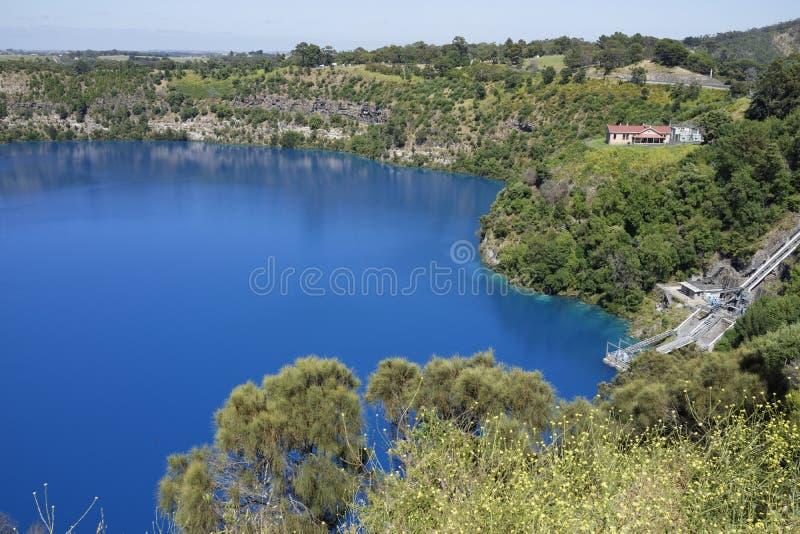 Blauer See, Berg Gambier, Süd-Australien stockfotografie