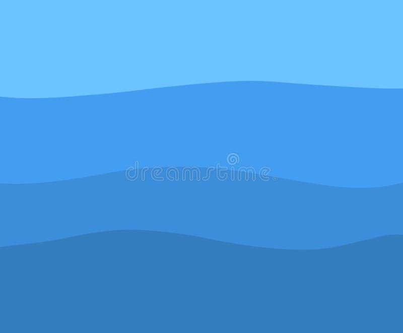Blauer Seehintergrund stock abbildung